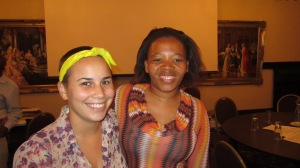 Miss Molefe, my English counterpart, and myself