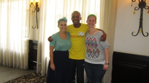 Katie, my fellow CYLA alum, and myself met a former City Year South Africa staff member -- Tony Gubesa -- at our Grassroot Soccer training! LOVING these international ripples!