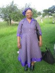 My Mama Mathebula lookin' so fresh in a dress she made!