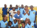The grade 5-7 soccer team won some matches this month!