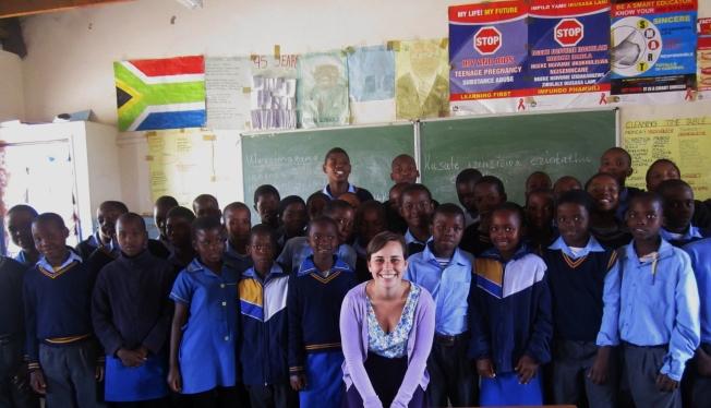 Grade 5 Class with Miss Mathebula
