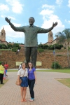 Newly erected Nelson Mandela statue at the capitol buildings in Pretoria