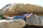 Charlotte Relaxxxxin' in rural South Africa at my site