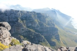 The clouds cover the mountain like a table cloth, which is why it is called Table Mountain!
