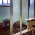 Mandela's cell at Robben Island, where he spent 18 years of his life