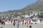 Camps Bay in Cape Town - jam packed. Reminded me of Laguna Beach
