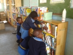 Grade four sporadically checking out the books