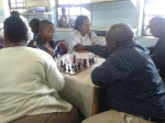 Mr. Mlambo has wanted to play chess with the learners since the day I got to site. He got his wish!