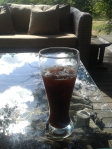 Iced coffee at the lodge - for the first time in almost two years, someone made it correctly!
