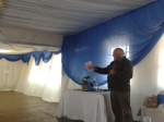 Ben Henderson, CEO of David Rattray Foundation, urging learners to use the library to the fullest