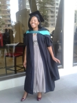 Before graduation! Miss Molefe looks so adorable!